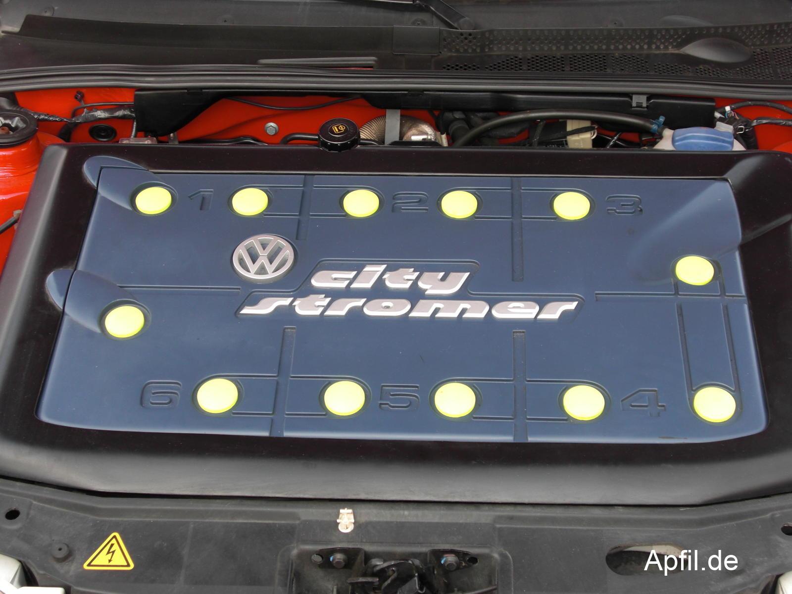 Batterie des VW Golf citySTROMer