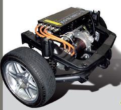 Hinterachsmodul für smart 450 mit E-Car-Box und 30kW Motor